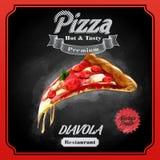 Pizzy diavola ilustracji