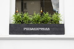 Pizzy Ekspresowa restauracja w Południowym Kensington, Londyn fotografia stock