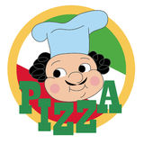 Pizzy etykietki projekt Obraz Royalty Free