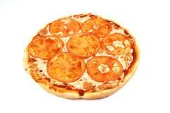 Pizzy margarita odizolowywający na białym tle jedzenie, ser obrazy royalty free
