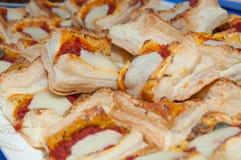 Pizzy Palcowy jedzenie Obraz Stock