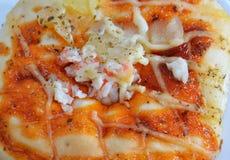 Pizzy polewy imitaci chlebowy krab Zdjęcie Stock