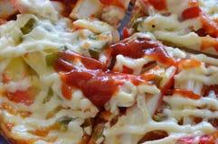 Pizzy polewy imitaci kraba opatrunkowy ketchup Fotografia Royalty Free