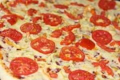 Pizzy polewy tło Fotografia Stock