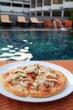pizzy porcja zdjęcie royalty free