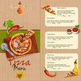 Pizzy restauraci menu Zdjęcie Royalty Free