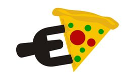 Pizzy rozwidlenia list E Zdjęcia Royalty Free