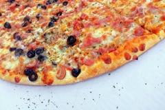 Pizzy tło Zdjęcia Stock