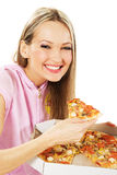 pizzy urocza kobieta Zdjęcia Royalty Free