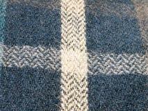 PJ纹理的蓝色方格的棉绒关闭  免版税库存照片