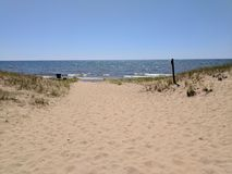 Pj Hoffmaster state park beach Stock Photo