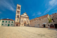 Pjaca square in Town of Hvar Stock Images