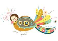 Pájaro decorativo Imagenes de archivo