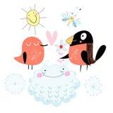 Pájaros del amor Imagen de archivo libre de regalías