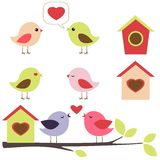 Pájaros en conjunto del amor Fotos de archivo