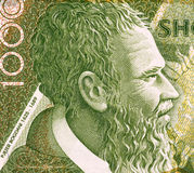 Pjeter Bogdani. (1622-1689) 1000 Leke 2001 Banknote from Albania. Most original writer of early literature in Albania royalty free stock photos