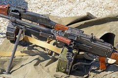 PK Machine gun. The PK Machine gun Kalashnikov royalty free stock photography