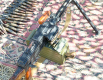 PK Machine gun. The PK Machine gun Kalashnikov stock image