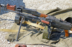 PK Machine gun. The PK Machine gun Kalashnikov stock photo