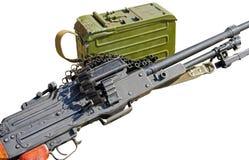 PK Maszynowego pistoletu kałasznikow na bielu Zdjęcia Royalty Free