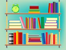 półka na książki zawieszający Obraz Royalty Free