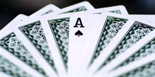 Póker del as (tarjeta que juega) Imagen de archivo libre de regalías