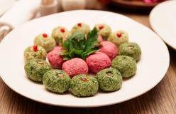 Pkhali appetizer on plate, georgian dish Stock Photo