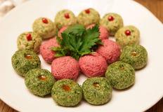 Pkhali appetizer on plate, georgian dish Royalty Free Stock Photo