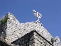 Pkiin Galilea stara synagoga 2004 Fotografia Royalty Free