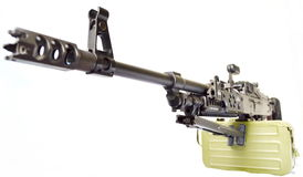 PKM. Kalashnikov machine gun PKM tactical Stock Photography