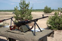 PKM-machinegeweer Royalty-vrije Stock Foto's