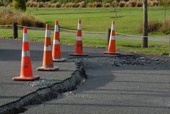 pęknięcia uszkadzają trzęsienie ziemi nowy drogowy Zealand Zdjęcia Stock