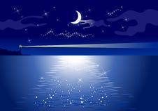 półksiężyc latarnia morska Zdjęcia Royalty Free