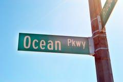 Pkwy sikt av havet Royaltyfri Bild