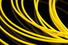 Plástico amarelo do ABS para a impressora 3D Fotografia de Stock Royalty Free