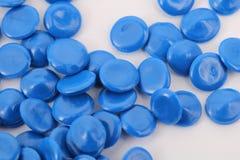 Plástico azul da química da cor fotografia de stock
