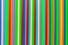 Plástico colorido usado como o fundo Fotografia de Stock Royalty Free