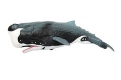 Plástico da baleia de assassino fotografia de stock