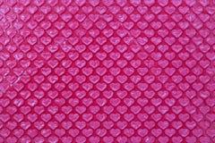 Plástico de burbujas rosado de la forma del corazón Imagen de archivo