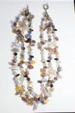 Plástico de cristal étnico del collar Imagenes de archivo
