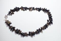 Plástico de cristal étnico del collar Imagen de archivo libre de regalías