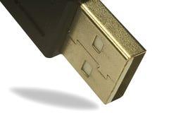 Plástico del negro del USB Imágenes de archivo libres de regalías