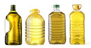 Plástico do óleo da garrafa fotos de stock royalty free