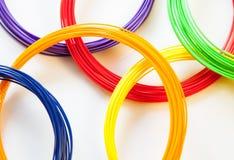 Plástico do ADS para a impressora 3D, imagens de stock