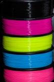 Plástico do fio do ABS para a impressora 3d fotografia de stock