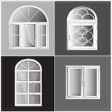 Plástico Glosed de Windows do vetor Imagem de Stock