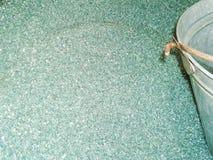 Plástico reciclado y machacado para la producción de la hoja del policarbonato Imagen de archivo libre de regalías