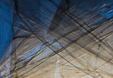 Plástico sobre a janela Fotografia de Stock