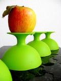 Plástico verde Imágenes de archivo libres de regalías