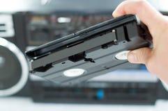 Plástico, videotape preto à disposição Foto de Stock Royalty Free